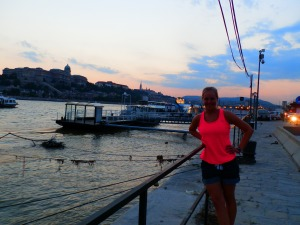 walking on the Danube River