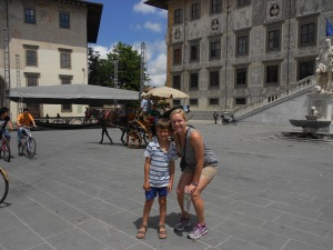 Federicco and I in the piazza