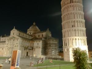 Pisa at night