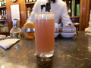 a bellini at Harry's Bar