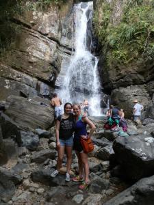 Shirin & I at La Mina falls